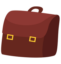 brown handbag as accessory for girl style leather vector image