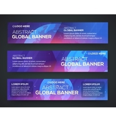 Business banner set background with globe vector image