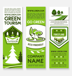 Business template banner set for ecotourism design vector
