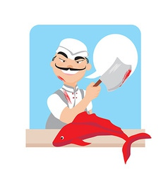 Cartoon butcher design vector