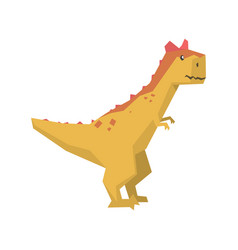 Cartoon dinosaur character jurassic period animal vector