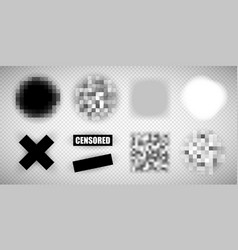 Censorship elements various types vector
