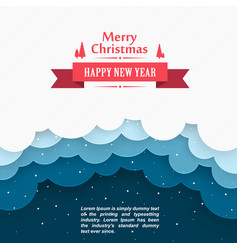 Christmas snow background marry cover happy ne vector