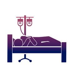 coronavirus covid19 19 sick person in bed hospital vector image