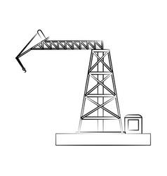 Crane construction icon image vector
