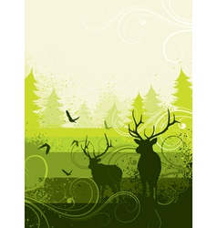 Deer in countryside vector
