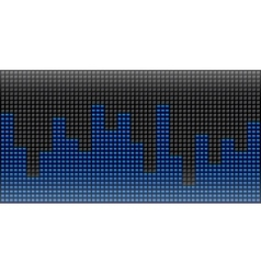 Digital equalizer abstract music volume infinity vector