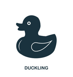 duckling icon mobile apps printing and more vector image