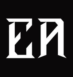 Ea logo monogram with slice shape design template vector