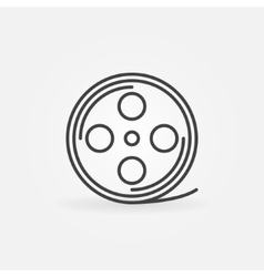 Film reel linear icon vector image