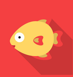 fish flat icon for web and mobile vector image