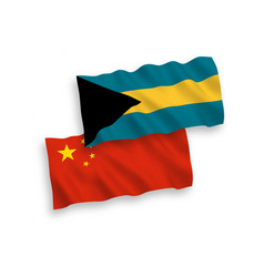 flags commonwealth bahamas and china on vector image