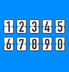 Flip countdown clock counter timer time remaining vector