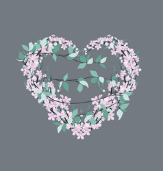 flower decoration sakura vector image