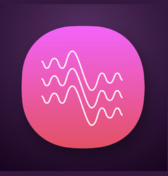 Flowing wavy lines app icon fluid parallel vector