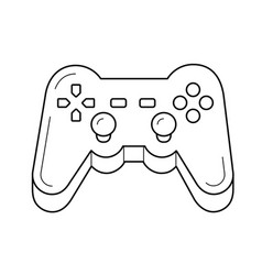 gamepad line icon vector image