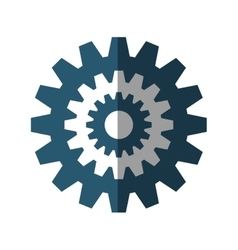 gears machine settings isolated icon vector image