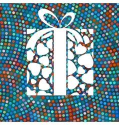 Gift box and colorful dots EPS 8 vector image