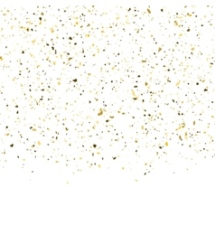 Golden glitter shine texture on a white background vector image