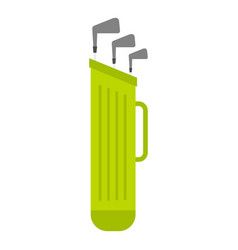 Golf bag with clubs icon isolated vector