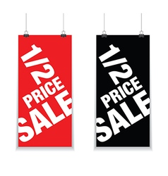 half price sale signs vector image