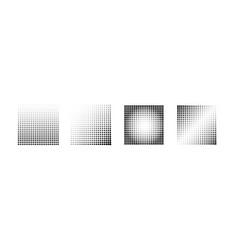 halftone effect samples set halftone vector image