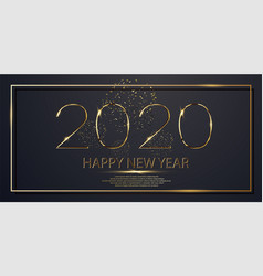 happy new year 2020 winter holiday greeting card vector image