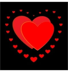 Heart couple sign vector