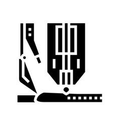 Hyperbaric welding glyph icon vector