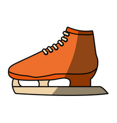 Ice skates isolated vector