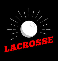lacrosse sport ball logo icon sun burtst print vector image