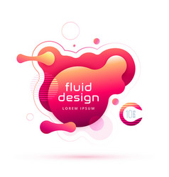 Liquid color background design fluid gradient vector