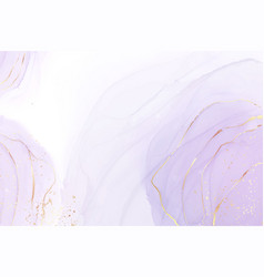 mauve liquid watercolor background with golden vector image