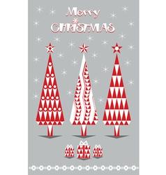 merry christmas and gray vector image