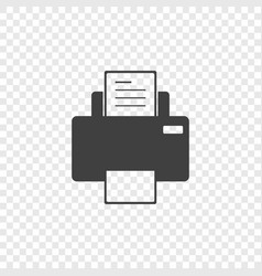 minimal printer icon on a transparent vector image