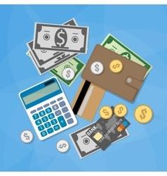 Money items set vector