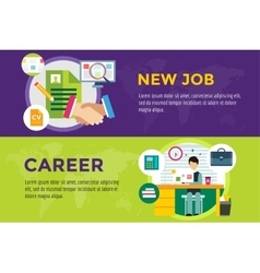 New job search and career work infographic vector