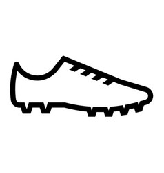 Outline beautiful soccer shoe icon vector