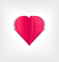 paper heart paper pages in the form of pink vector image