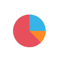 Pie chart flat icon vector