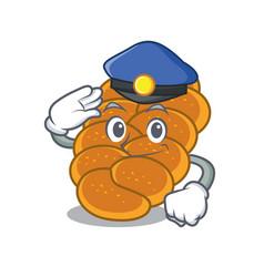 Police challah character cartoon style vector