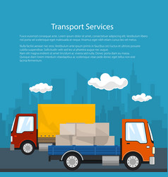 Poster of road transport and logistics vector