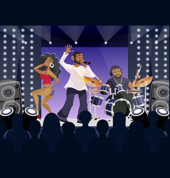 Rap Concert Scene vector