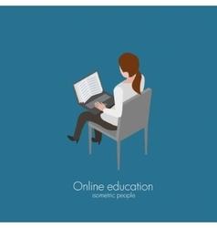 Reading online book vector