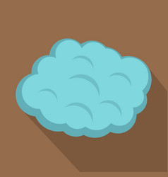 Round cloud icon flat style vector