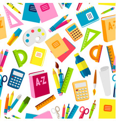 school or office supplies educational accessories vector image