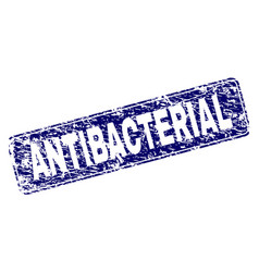 Scratched antibacterial framed rounded rectangle vector