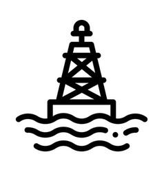 sea light buoy icon outline vector image