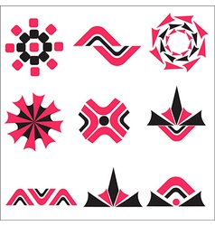 set calligraphic design logo elements vector image