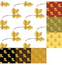 set of autumn seamless pattern vector image